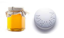 Маска из меда и аспирина