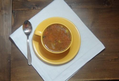 Как приготовить вкусно бульон из мелко порубленных ингредиентов